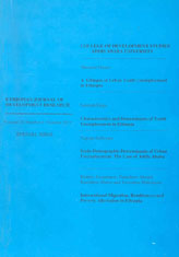 Ethiopian Journal of Development Research Vol 33 No. 1